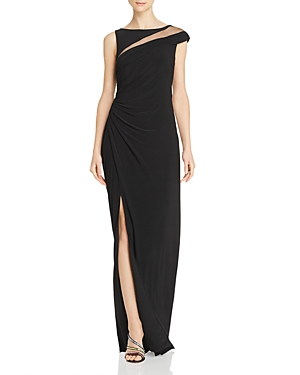 Adrianna Papell Tops ASYMMETRIC DRAPED GOWN