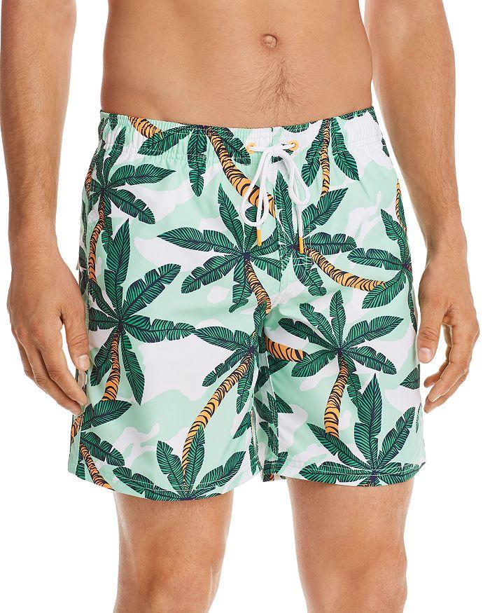 SUNDEK - Palm Tree-Print Swim Trunks