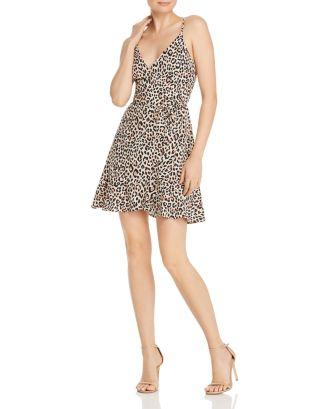 Aqua Leopard Print Wrap Dress 100 Exclusive