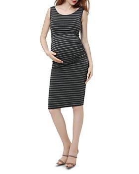 Kimi & Kai - Tobi Sleeveless Striped Maternity Dress