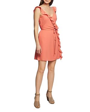 1.state Dresses SLEEVELESS RUFFLED WRAP DRESS