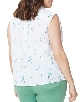 NYDJ Plus - Printed Sleeveless Blouse