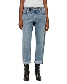 ALLSAINTS - Alana Cropped Boyfriend Jeans in Light Indigo