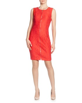 T Tahari - Sleeveless Zip-Front Dress