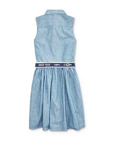 Ralph Lauren - Girls' Belted Chambray Shirt Dress - Big Kid