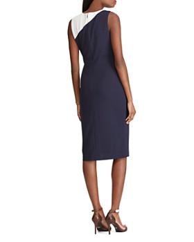 Ralph Lauren - Color-Blocked Crepe Dress