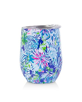 Lilly Pulitzer - Insulated Stemless Tumbler, Lion Around