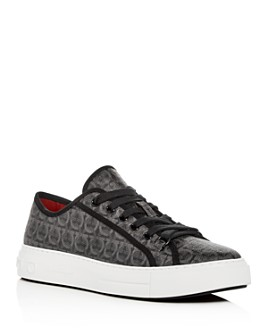 Salvatore Ferragamo - Men's Anson Gancini-Print Low-Top Sneakers