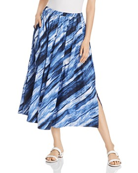 Donna Karan - Printed Pleated Midi Skirt