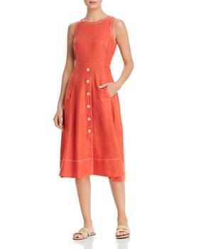 eb4fdc0eda3df8 Donna Karan - Sleeveless Contrast-Stitch Dress ...