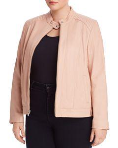 Lafayette 148 New York Plus Minerva Leather Jacket