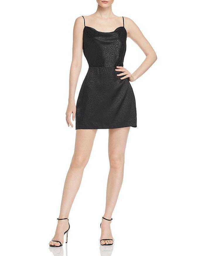 Kendall + Kylie - Lace-Up Leopard-Pattern Mini Dress