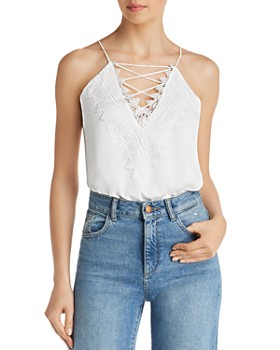 WAYF - Posie Lace-Up Bodysuit