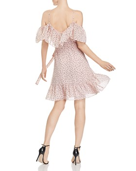 WAYF - Elise Ruffled Cold-Shoulder Wrap Dress