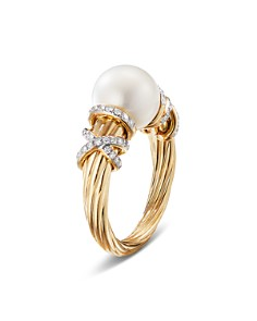 David Yurman - 18K Yellow Gold Helena Cultured Freshwater Pearl & Diamond Ring