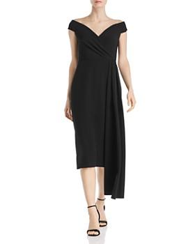 Eliza J - Off-the-Shoulder Draped Dress