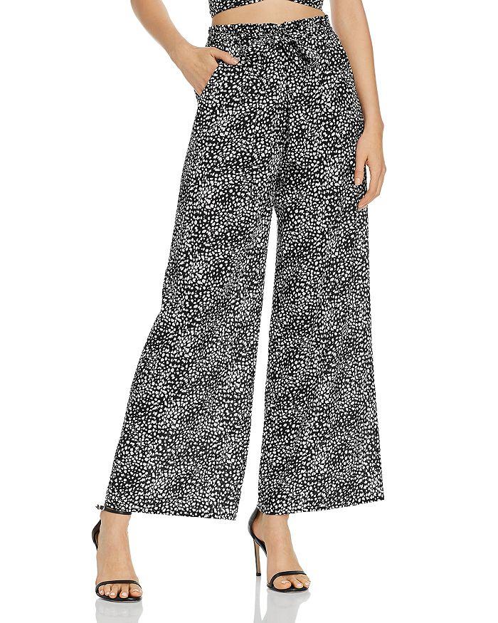 AQUA - Animal-Print Wide-Leg Pants - 100% Exclusive