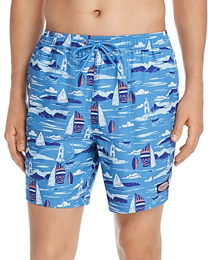 Vineyard Vines Chappy Vineyard Scene Swim Trunks