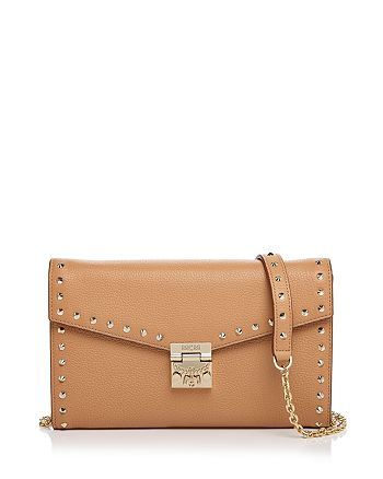 MCM - Patricia Park Avenue Leather Studded Chain Wallet