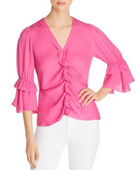 cbb783c856057e Kobi Halperin - Demy Ruffled Silk Blouse ...