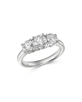 Bloomingdale's - Diamond 3-Stone Ring in 14K White Gold, 2.0 ct. t.w. - 100% Exclusive