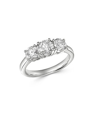 Bloomingdale's Diamond 3-Stone Ring in 14K White Gold, 2.0 ct. t.w. - 100% Exclusive