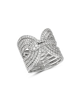 Bloomingdale's - Diamond Interlocking Statement Ring in 14K White Gold, 1.65 ct. t.w. - 100% Exclusive