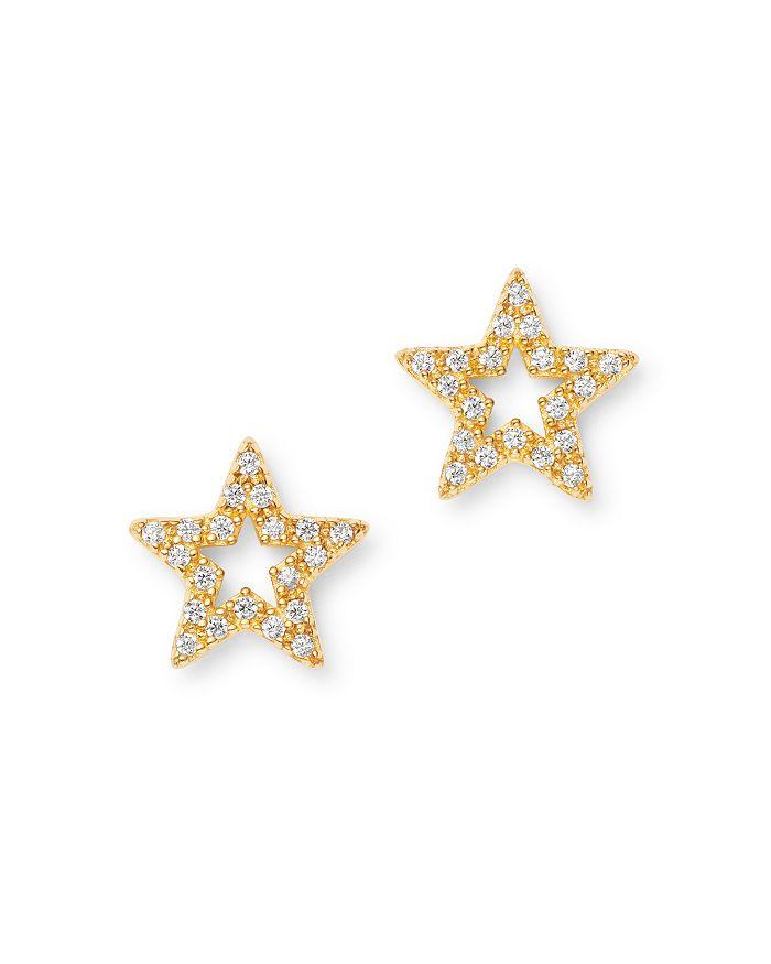 Bloomingdale's - Diamond Star Stud Earrings in 14K Yellow Gold, 0.10 ct. t.w. - 100% Exclusive