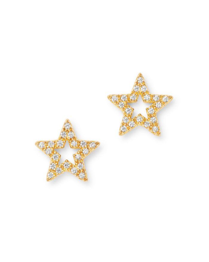 Bloomingdale's Diamond Star Stud Earrings in 14K Yellow Gold, 0.10 ct. t.w. - 100% Exclusive    Bloomingdale's