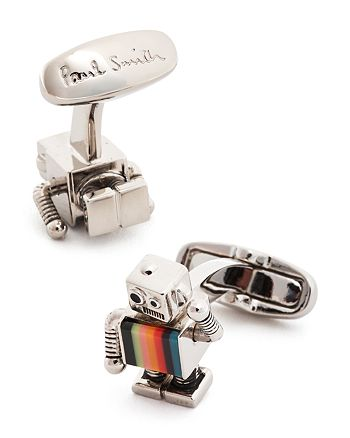 Paul Smith - Striped Robot Cufflinks