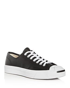 Converse Men's Jack Purcell Leather Low-Top Sneakers