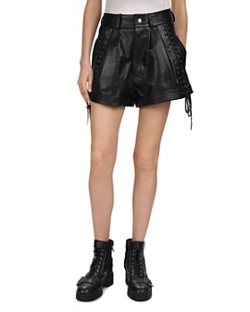 1af0717a3d The Kooples - Lace-Up Detail Leather Mini Shorts ...