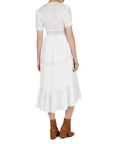The Kooples - Stitched Dot-Pattern Lace Midi Dress
