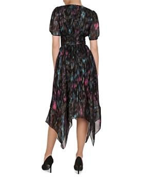 cd1c142afd3 ... The Kooples - Floral-Print Metallic Dress