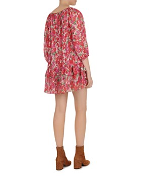 The Kooples - Cherry Blossom Square-Neck Mini Dress
