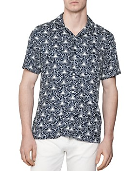 REISS - Groove Geo Print Regular Fit Button-Down Shirt