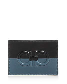 Salvatore Ferragamo - Firenze Logo Bi-Color Leather Card Case