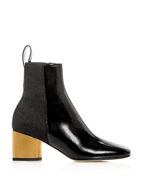Proenza Schouler - Women's Square-Toe Block-Heel Booties