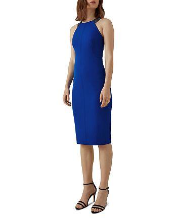 KAREN MILLEN - Embellished-Strap Sheath Dress