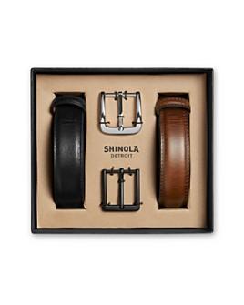 Shinola - Men's Guardian Leather Belt Set