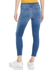 rag & bone/JEAN - Ultra Cropped Chewed-Hem Skinny Jeans in Flint