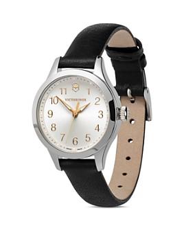Victorinox Swiss Army - Alliance Black Leather Strap Watch, 28mm