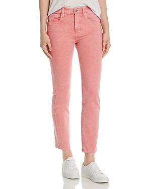 3x1 Jeans STEVIE HIGH-RISE STRAIGHT-LEG JEANS IN BUBBLE GUM