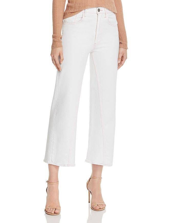 3x1 - Aimee High-Rise Cropped Wide-Leg Jeans in Dutch White