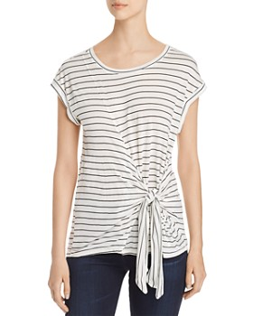 Single Thread - Striped Tie-Front Top