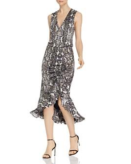 Parker - Briony Snakeskin-Print Midi Dress