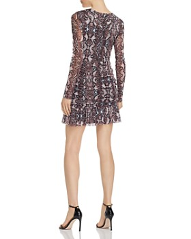 Parker - Tina Snakeskin-Print V-Neck Mini Dress
