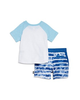 Splendid - Raglan Tee & Striped Shorts Set - Baby