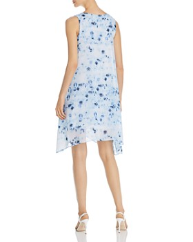 Donna Karan - Sleeveless Tie-Dye Shift Dress