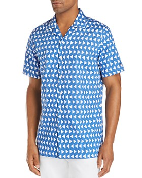Tommy Hilfiger - Short-Sleeve Triangle-Print Regular Fit Shirt